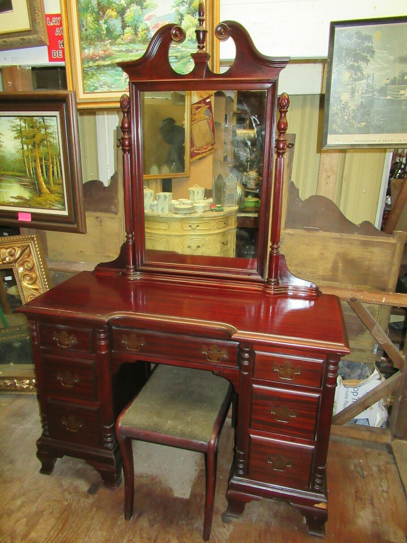 Vanity with stool