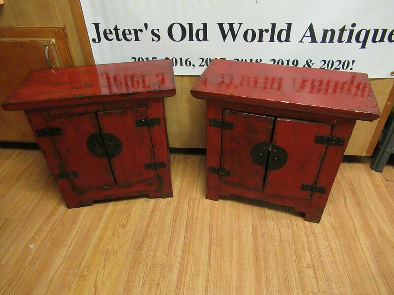 Two Antique Side Cabinets with Certificates of Antiquity