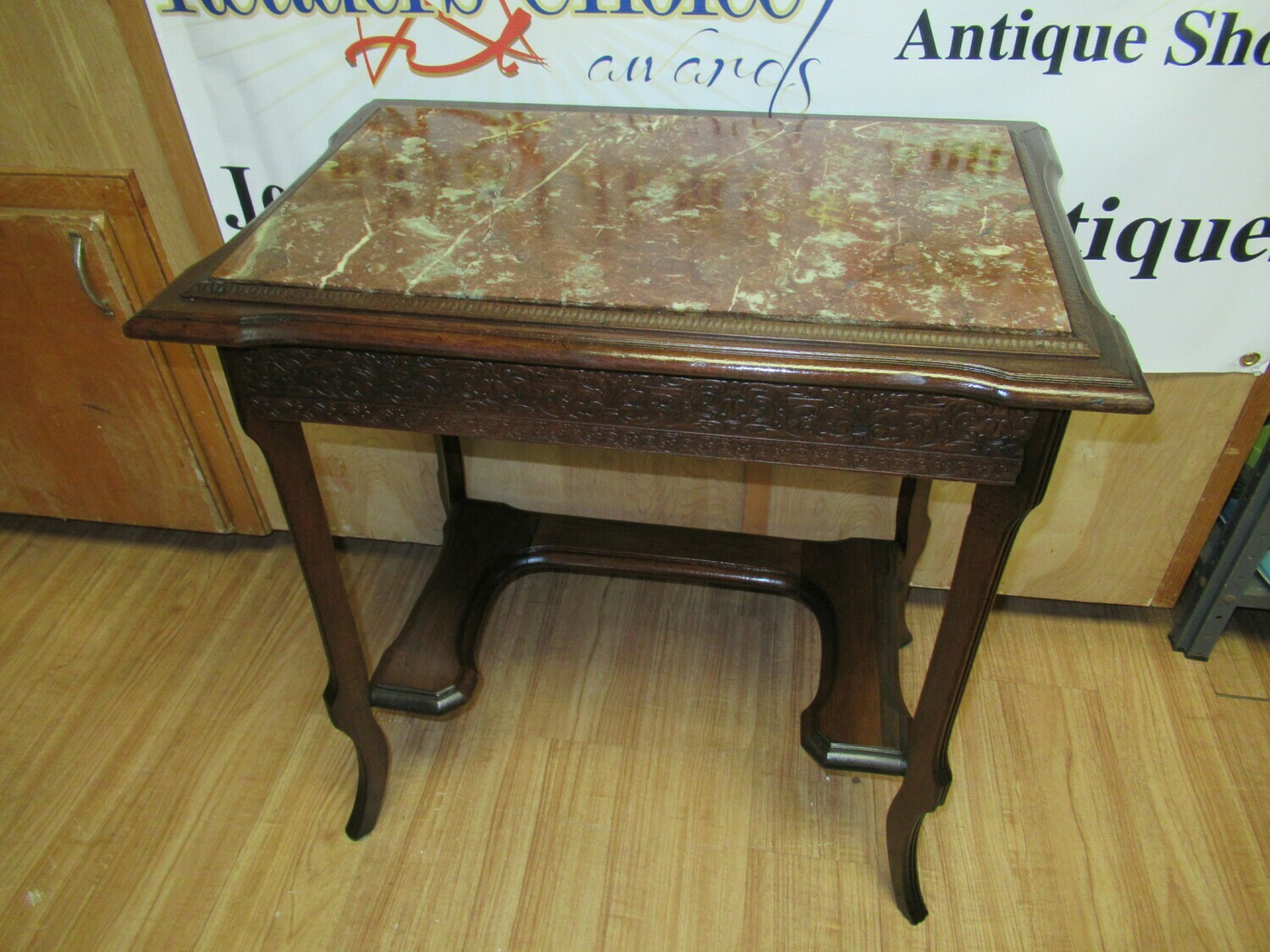 Marble Top Table with Drawer