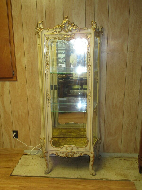 1860's French Display Curio Cabinet