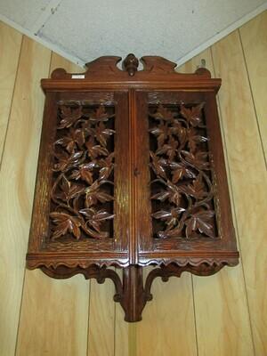 Black Forest Corner Cabinet
