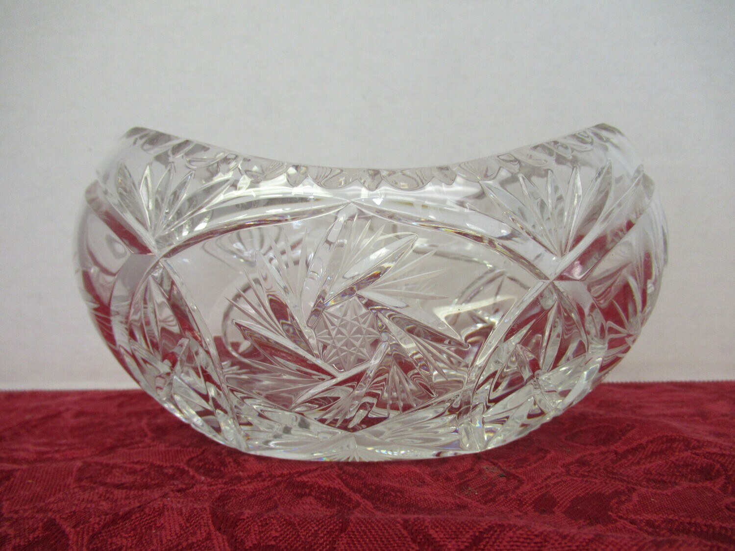 Hand Cut and Pressed Crystal Bowl