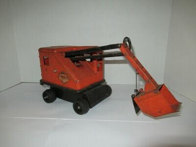 Vintage Lumar Contractors Scoop Shovel, Marx , Pressed Steel, Crane