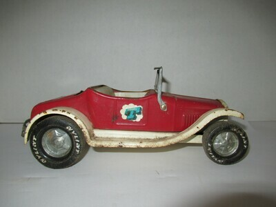 Vintage 1960's Nylint Toys Rockford IL Model T Rumble Seat Roadster Car Red