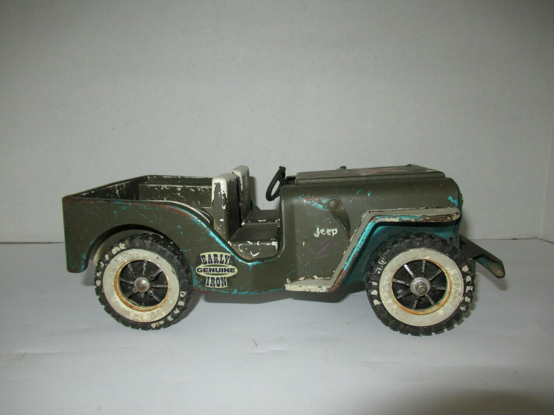 Tonka Military Jeep - Pressed Steel