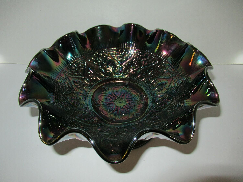 Fenton Amethyst Carnival Glass Bowl