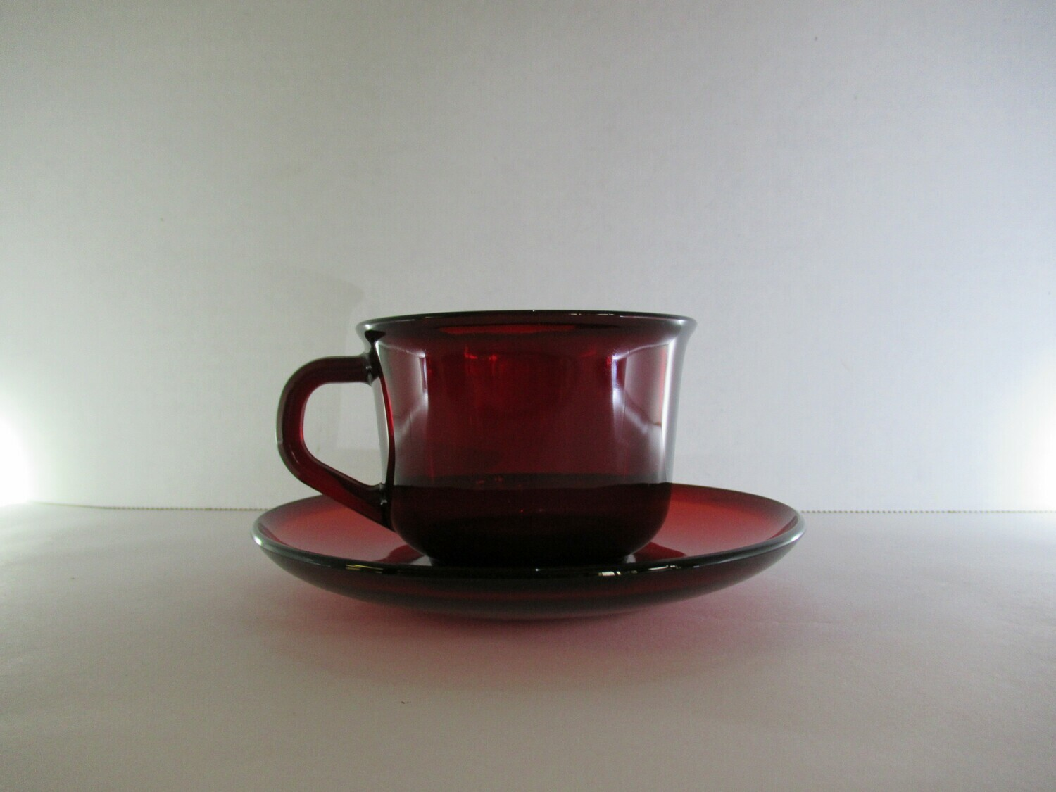 Ruby Red Tea Cup