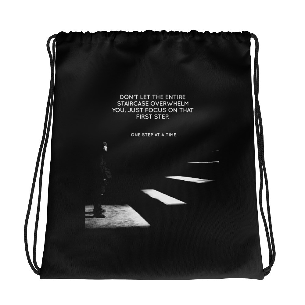 One Step at a Time - Drawstring bag