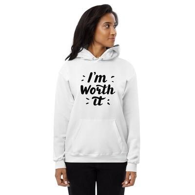 Im Worth it Unisex fleece hoodie