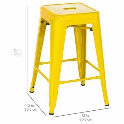 Metal Counter stool, Yellow
