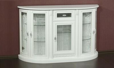 Комод со стеклом Милан белый