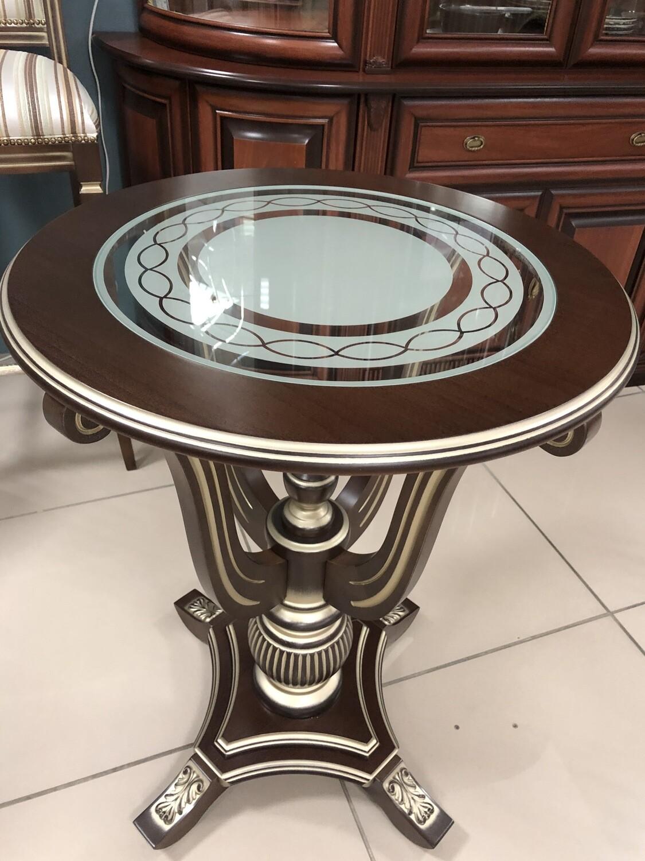 Стол кофейный Юта 57-21 со стеклом  орех