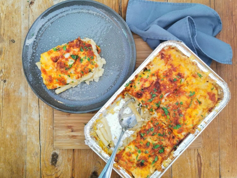 Three cheese macaroni & bacon (serves 2-4) Frozen