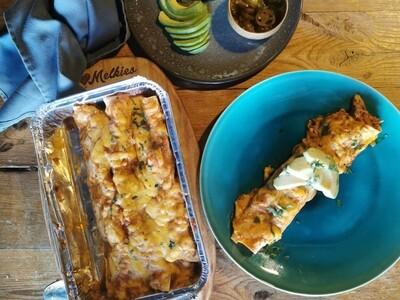 Chipotle Chicken enchiladas (serves 2-4) Frozen
