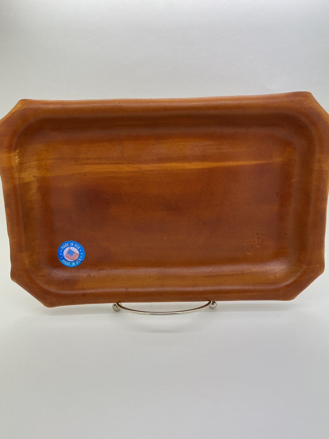 "Jason Blue Leather Rolling Tray - Medium 7"" x 10.5"""