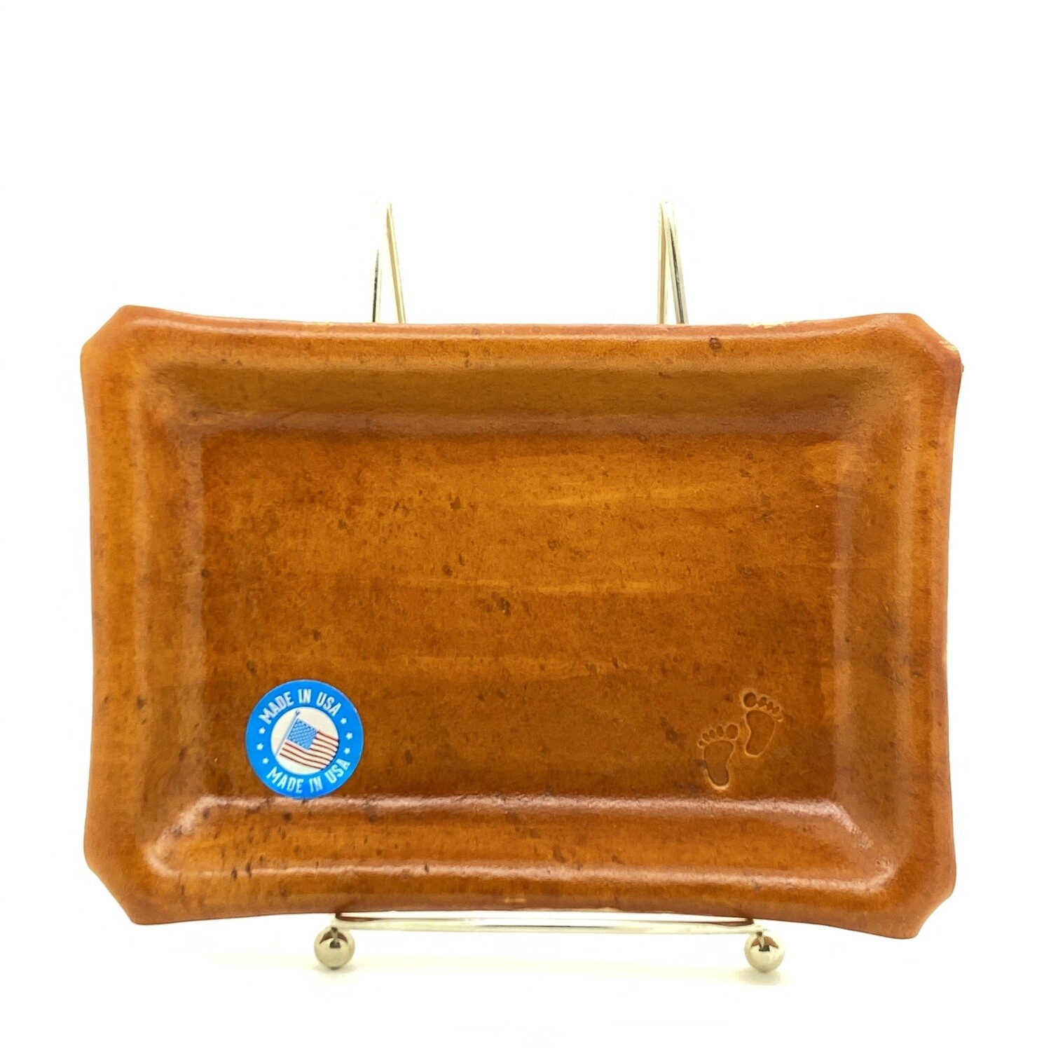"Jason Blue Leather Rolling Tray - Small 5""x7'"
