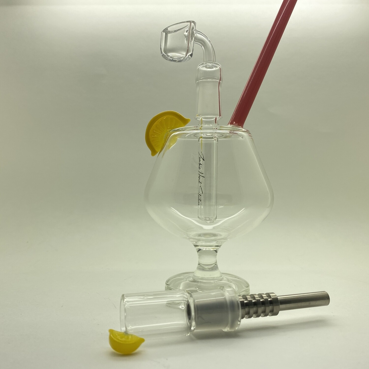 ZHS Snifter Glass Rig w/ Matching Dab Straw