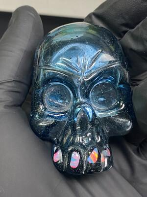 Carsten Carslile Skull Pendant w/ Opal Teeth