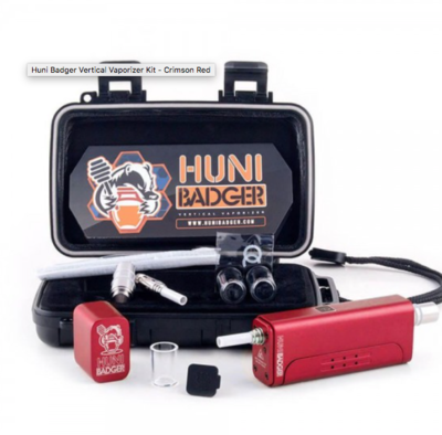 HUNI BADGER VERTICAL VAPORIZER KIT - CRIMSON RED - DSWS