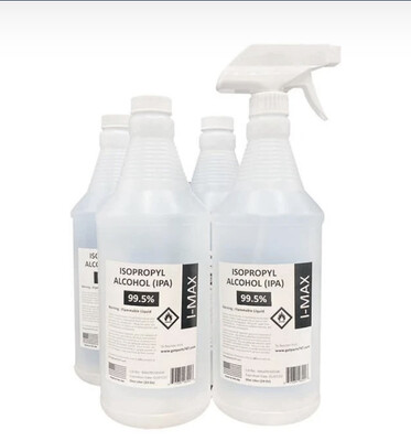 Isopropyl Alcohol 99.5% - 33oz (1 Liter)
