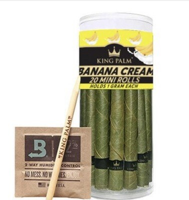 KING PALM HAND ROLLED LEAF- MINI PRE-ROLL CONE 20-PACK