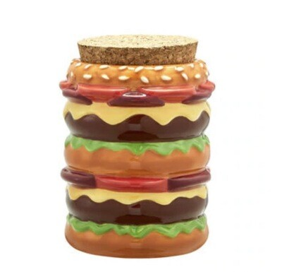 FASHIONCRAFT STASH JAR - CHEESEBURGER