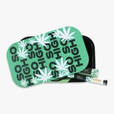 UGLY ROLLING TRAY WITH LID/CONES/PAPERS - SO SO HIGH (LARGE)