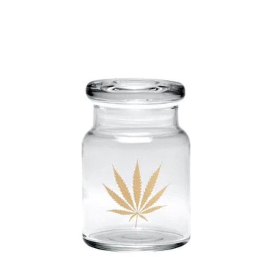 420 SCIENCE POP-TOP JAR - GOLD LEAF - Medium