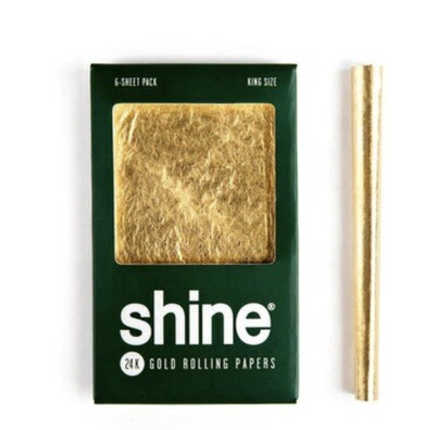 SHINE 24K GOLD ROLLING PAPERS - KING SIZE 6-SHEET PACK - WS