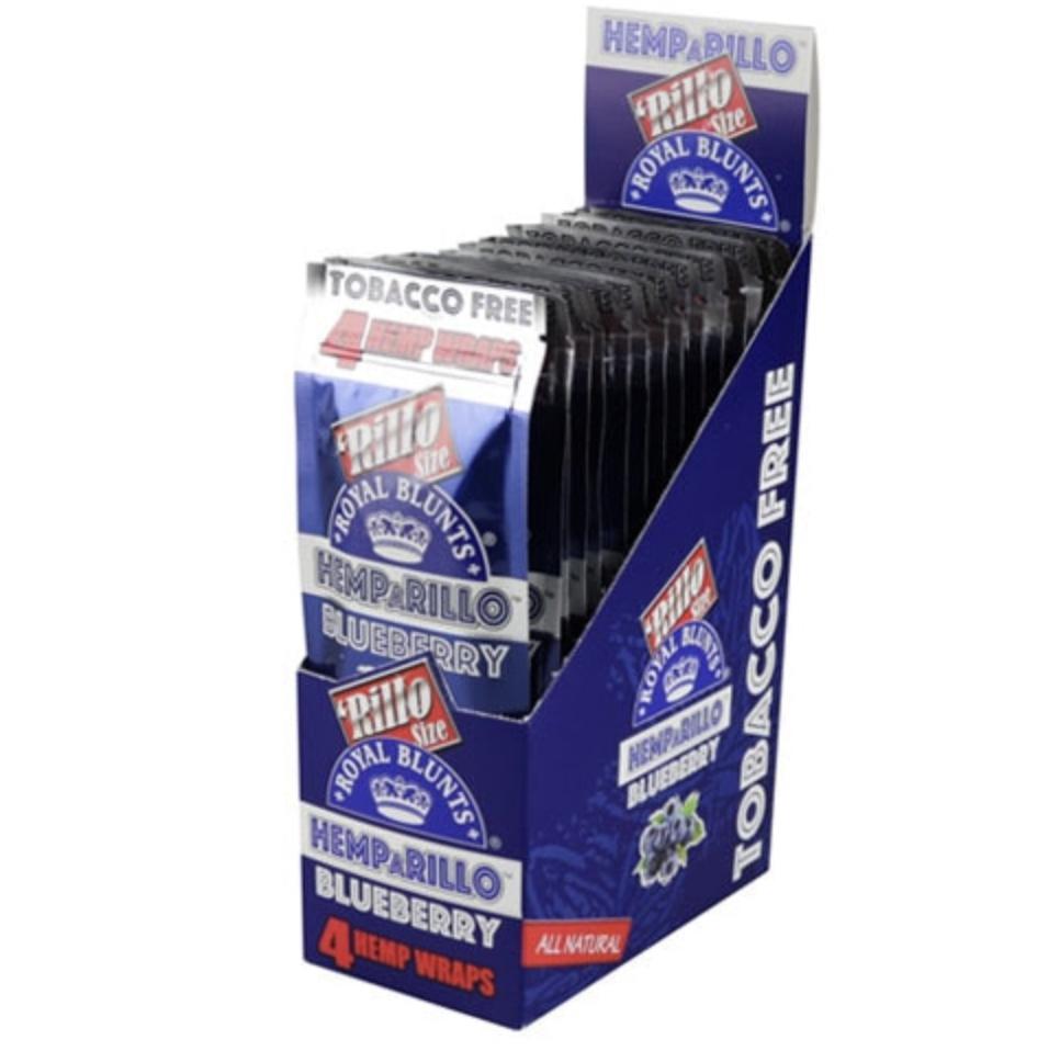 ROYAL BLUNTS HEMPARILLO HEMP WRAPS - BOX OF 15 4 PACKS - WS