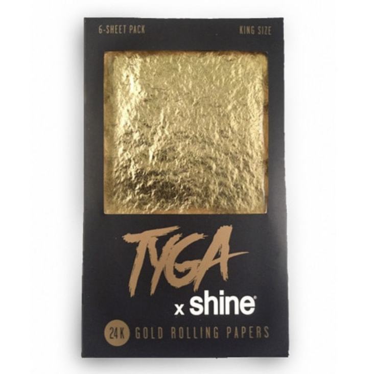 SHINE TYGA 24K GOLD ROLLING PAPERS - KING SIZE 6-SHEET PACK - WS