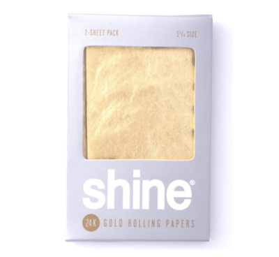 SHINE 24K GOLD ROLLING PAPERS - 1 1/4