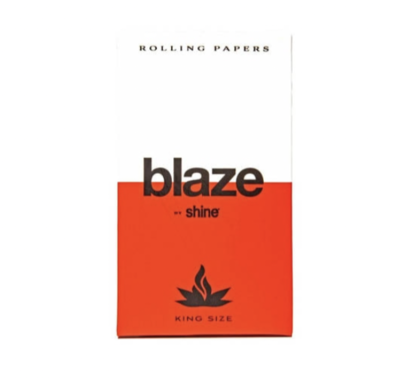 BLAZE BY SHINE HEMP ROLLING PAPERS - KING SIZE 32-SHEET PACK - WS