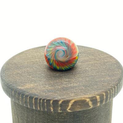 Regis Tie Die Terp Slurper Top Marble w/ Wood Stand