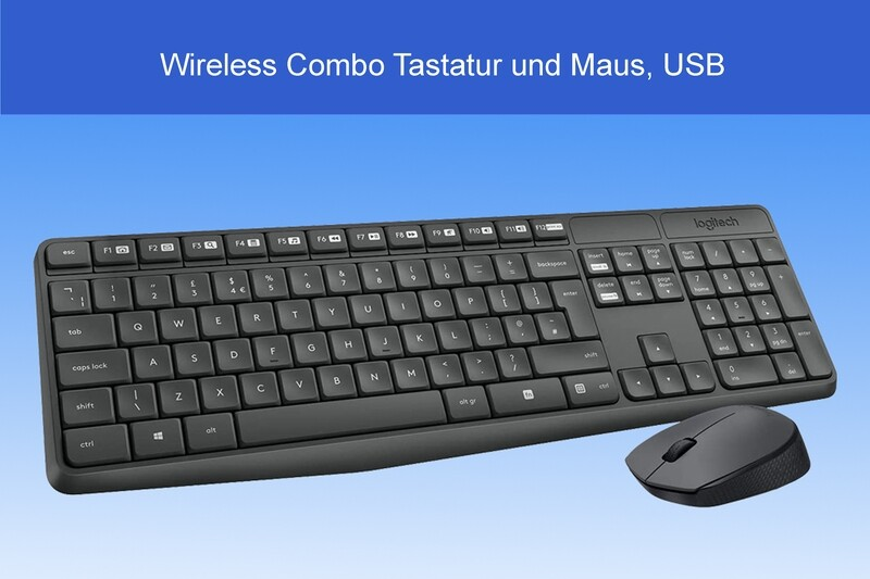 Wireless Combo, USB Tastatur und Maus