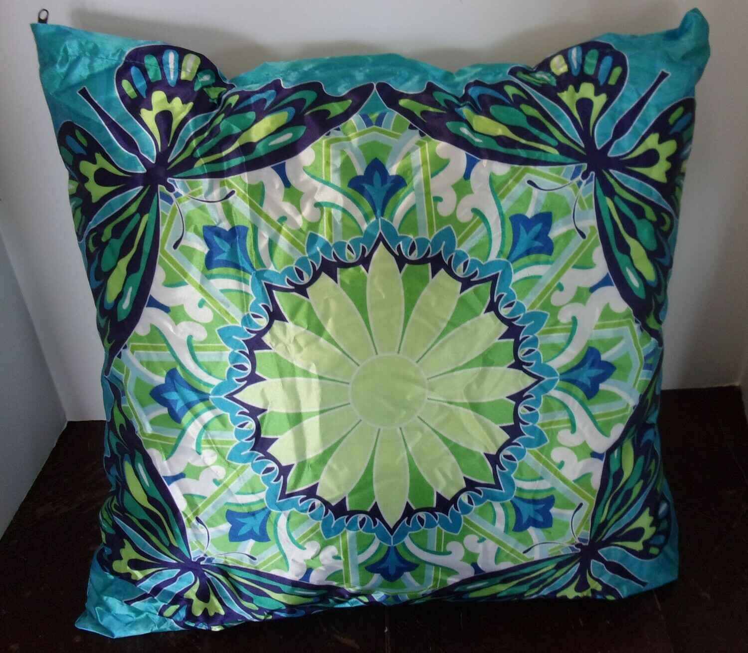 Bright Blue Sky Butterfly Pillow