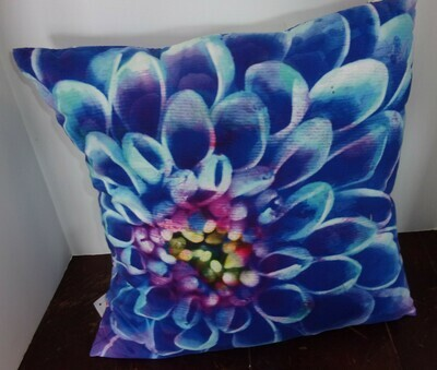 Bright Blue Flower Pillow