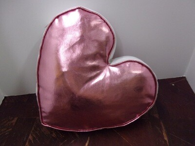 Shiny Pink Heart Shape Pillow