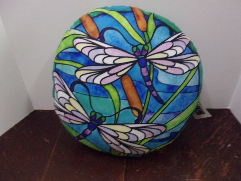 Dragonfly Pillow, Round