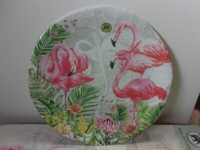"Flamingo 18"" Platter"