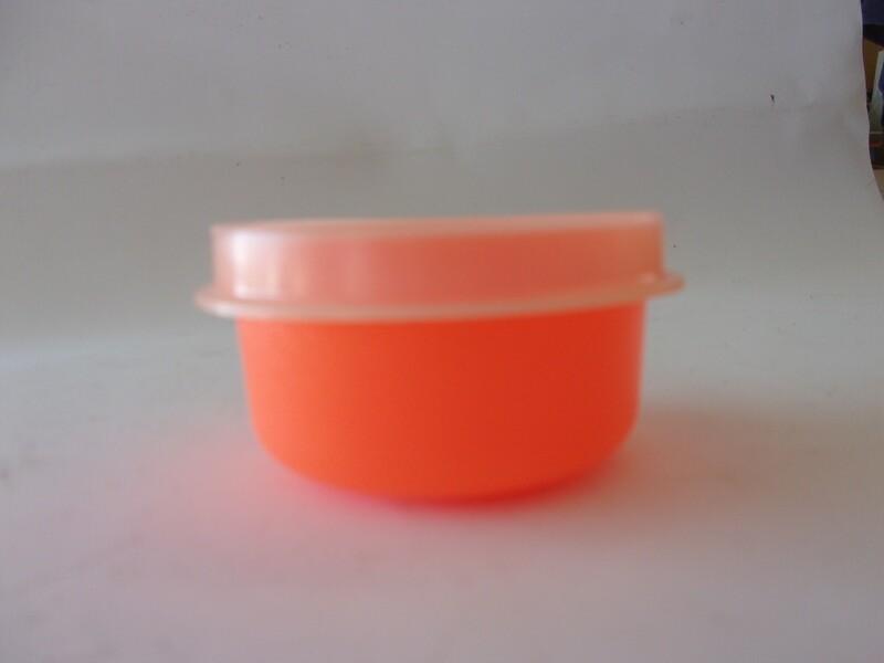 New Vintage Tupperware Neon Orange Smidget