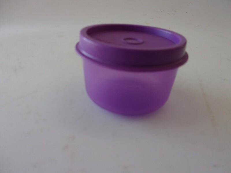 New Vintage Tupperware Smidget, Purple with Purple Lid