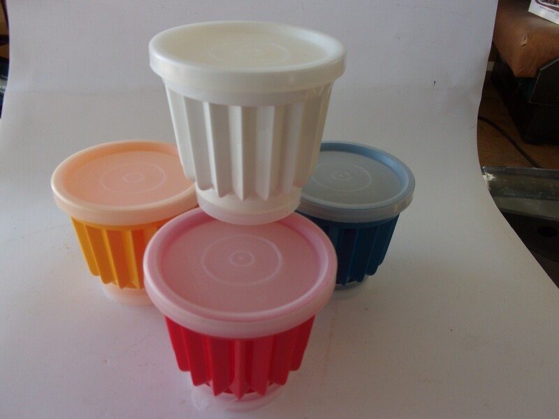 Vintage Tupperware Jell ettes - 4 Individual Molds, NOS