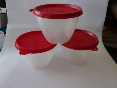 New Vintage Tupperware Refrigerator Bowls, Set of 3