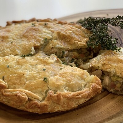 Country Chicken, Leek, Mushroom and Pancetta Pie