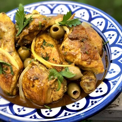 Chicken Preserved Lemon and Green Olive Tagine