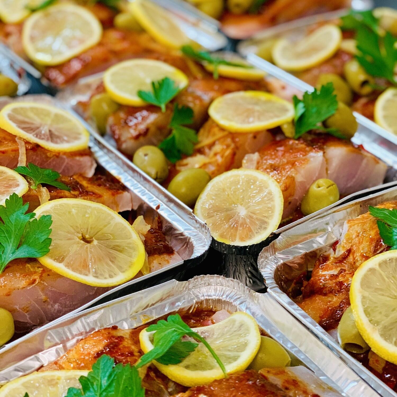 Barramundi Fish Tagine with Root Vegetables (Serves 4)