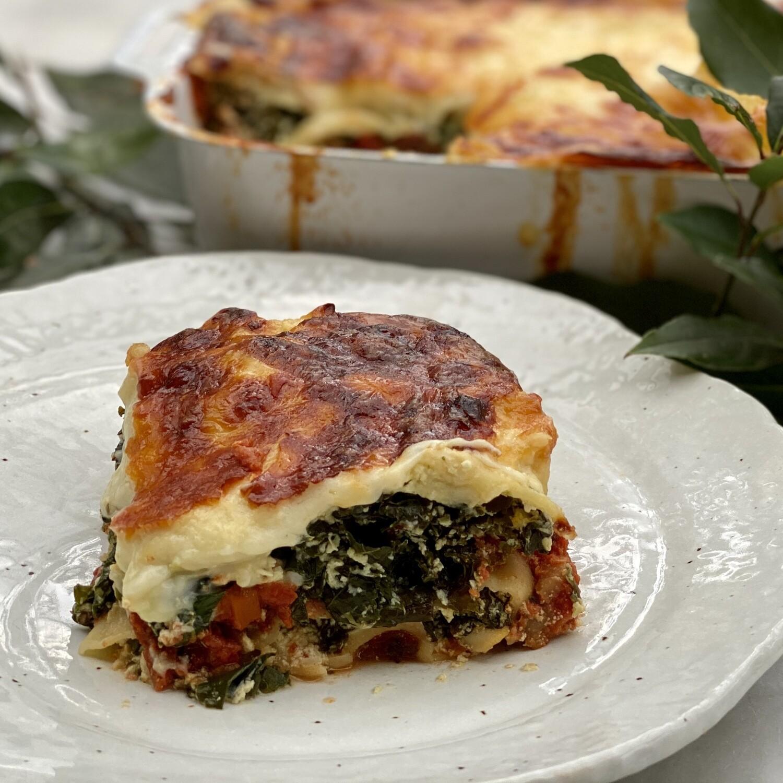 Spinach Ricotta Kale & Fetta Lasagne (Serves 4)