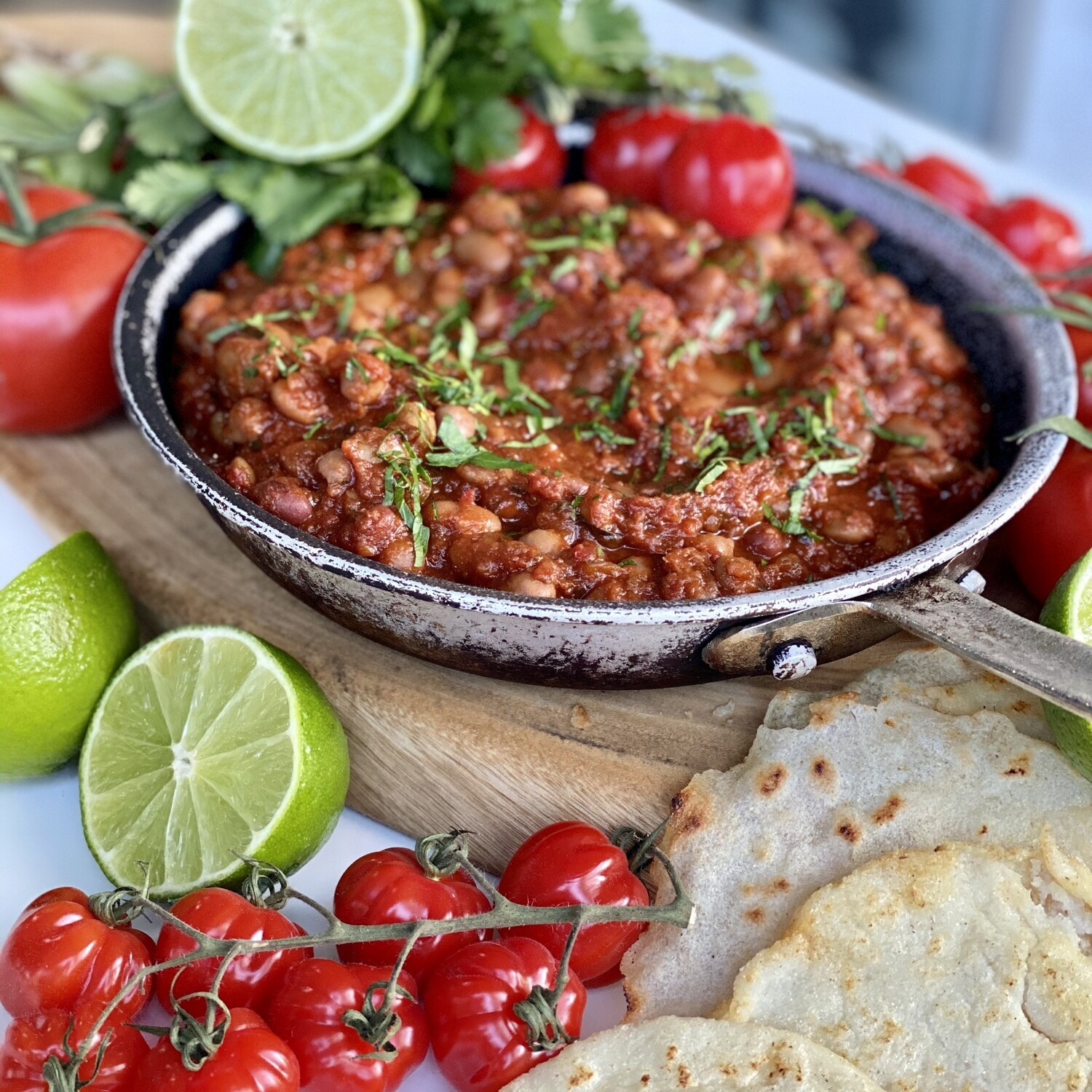 Mexican Baked Burrito Beans