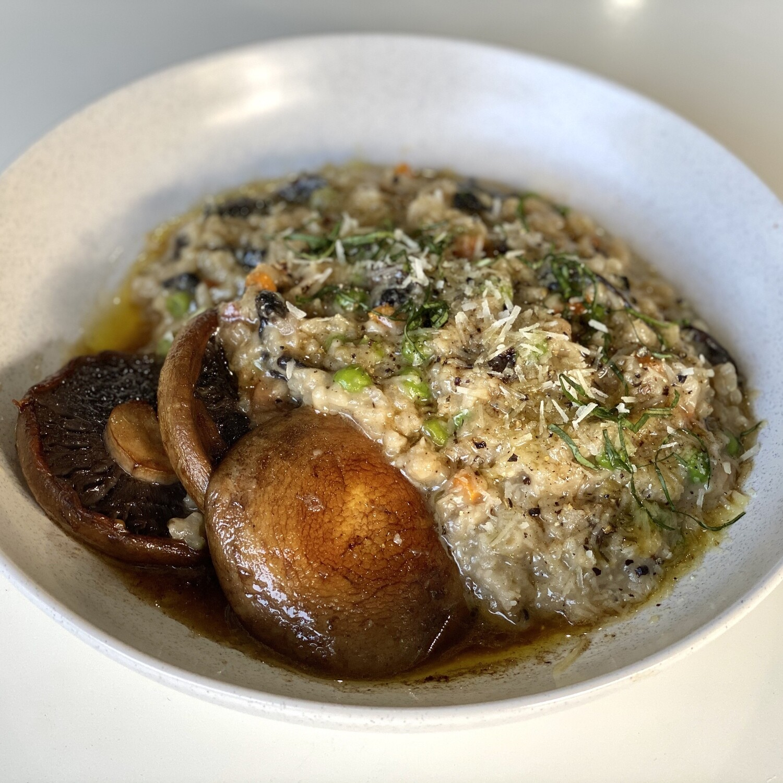 Risotto with Porcini Mushroom and Pea